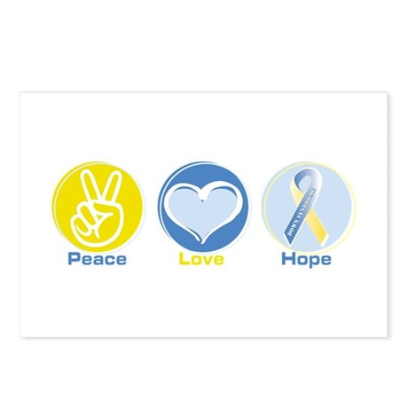 Peace Love Down syn hope Postcards (Package of 8)