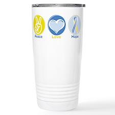 Peace Love Down syn hope Travel Mug
