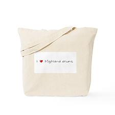 I Heart Highland Drums Tote Bag