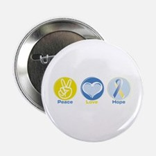 "Peace Love BlueYellow Hope 2.25"" Button"
