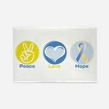 Peace Love BlueYellow Hope Rectangle Magnet