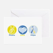 Peace Love BlueYellow Hope Greeting Card