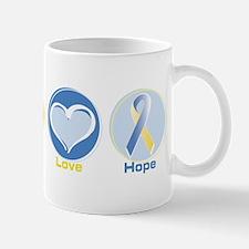 Peace Love BlueYellow Hope Mug
