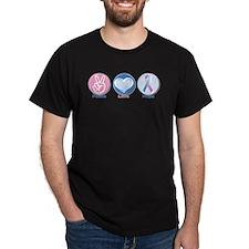 Peace Love Bl Pk Hope T-Shirt