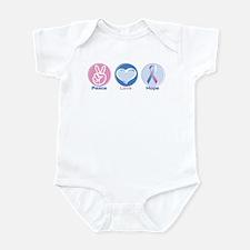 Peace Love Bl Pk Hope Infant Bodysuit