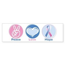 Peace Love Bl Pk Hope Bumper Sticker