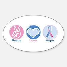 Peace Love Bl Pk Hope Decal