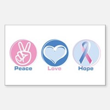 Peace Love Bl Pk Hope Decal
