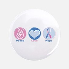 """Peace Love Bl Pk Hope 3.5"""" Button (100 pack)"""