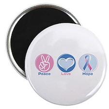 "Peace Love Bl Pk Hope 2.25"" Magnet (100 pack)"