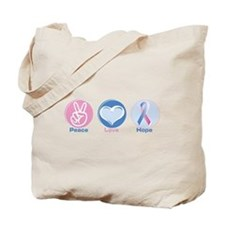 Peace Love Bl Pk Hope Tote Bag