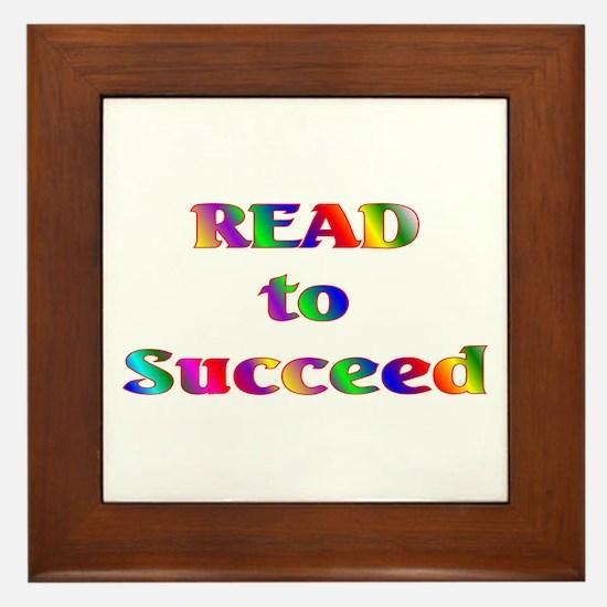 Read to Succeed Framed Tile