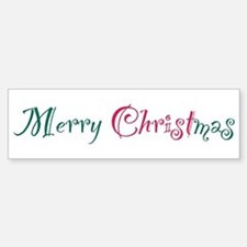 Merry Christmas Bumper Bumper Bumper Sticker