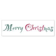 Merry Christmas Bumper Bumper Sticker