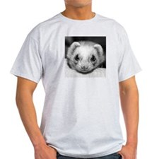 Ferret Saying 345 Ash Grey T-Shirt