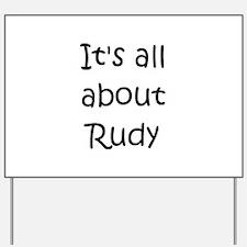 Cute Rudy Yard Sign