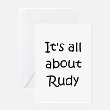 Unique Rudy Greeting Card