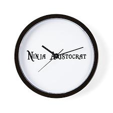 Ninja Aristocrat Wall Clock