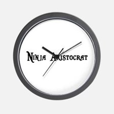 Ninja Aristocrat Wall Clock