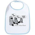 Easter Island Rocks Bib