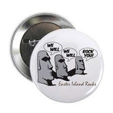 "Easter Island Rocks 2.25"" Button"