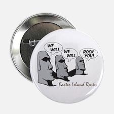 "Easter Island Rocks 2.25"" Button"