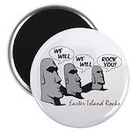 """Easter Island Rocks 2.25"""" Magnet (100 pack)"""