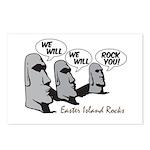 Easter Island Rocks Postcards (Package of 8)