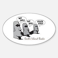 Easter Island Rocks Oval Decal