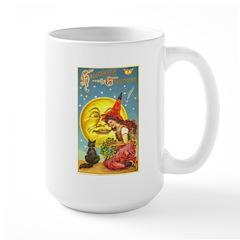 Witch & Cat Large Mug