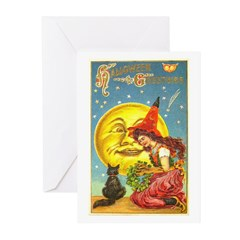 Witch & Cat Greeting Cards (Pk of 10)