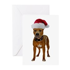 Pit Bull Christmas Greeting Cards (Pk of 20)