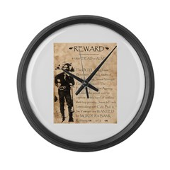 Jesse James Large Wall Clock
