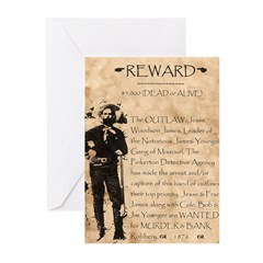 Jesse James Greeting Cards (Pk of 10)