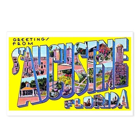 St Augustine Florida Greetings Postcards (Package