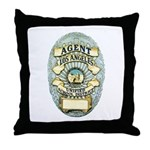 L.A. School Police Throw Pillow