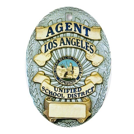 L.A. School Police Oval Ornament