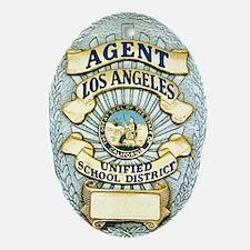 L.A. School Police Oval Ornament