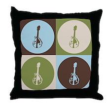 Mandolin Pop Art Throw Pillow