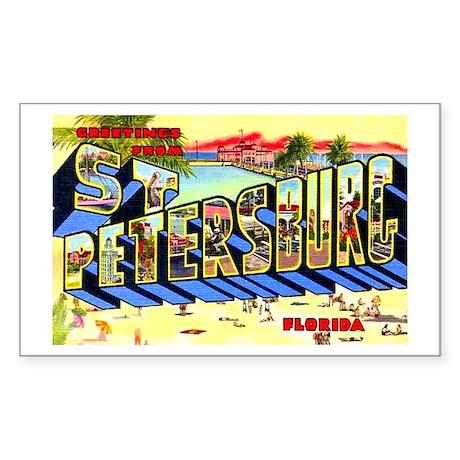 St Petersburg Florida Greetings Sticker (Rectangle