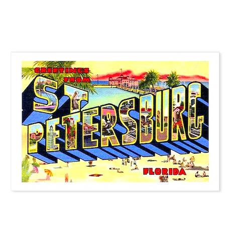 St Petersburg Florida Greetings Postcards (Package