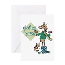 Clothes Horse Greeting Card