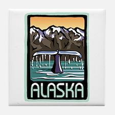 Alaska Whale Tile Coaster