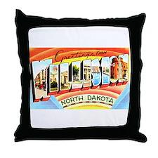 Williston North Dakota Greetings Throw Pillow