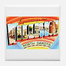 Williston North Dakota Greetings Tile Coaster