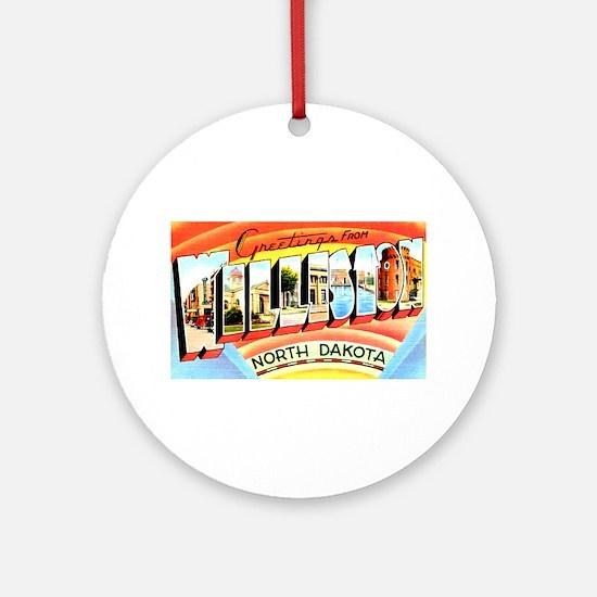 Williston North Dakota Greetings Ornament (Round)