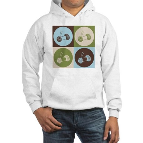 Knitting Pop Art Hooded Sweatshirt