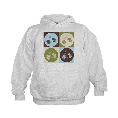 Knitting Pop Art Kids Hoodie