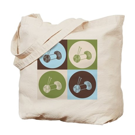 Knitting Pop Art Tote Bag