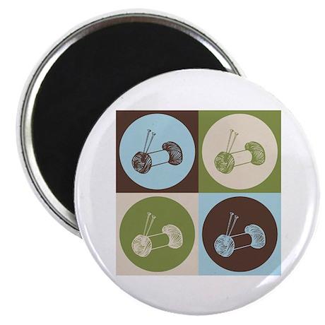 """Knitting Pop Art 2.25"""" Magnet (10 pack)"""